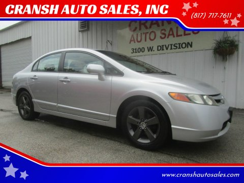 2006 Honda Civic for sale at CRANSH AUTO SALES, INC in Arlington TX