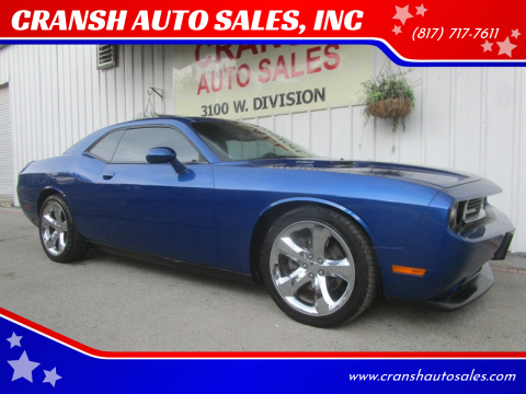 2012 Dodge Challenger for sale at CRANSH AUTO SALES, INC in Arlington TX