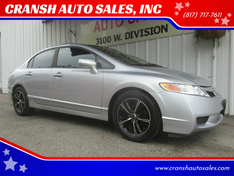 2011 Honda Civic for sale at CRANSH AUTO SALES, INC in Arlington TX