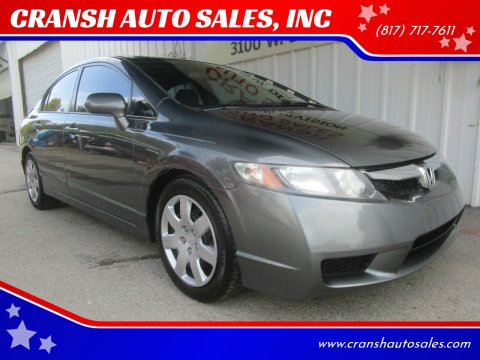 2009 Honda Civic for sale at CRANSH AUTO SALES, INC in Arlington TX