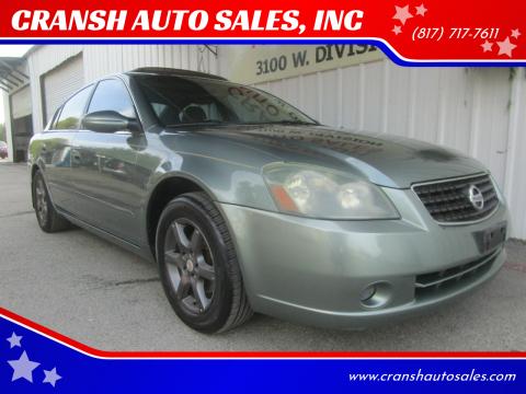 2006 Nissan Altima for sale at CRANSH AUTO SALES, INC in Arlington TX