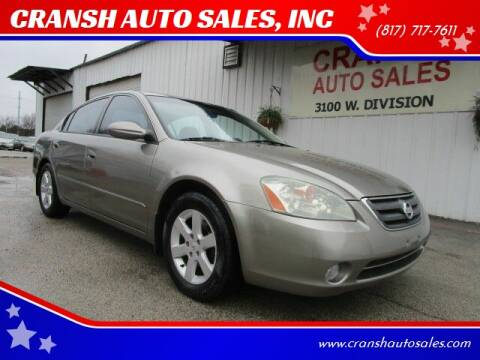 2003 Nissan Altima for sale at CRANSH AUTO SALES, INC in Arlington TX