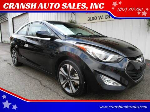 2013 Hyundai Elantra Coupe for sale at CRANSH AUTO SALES, INC in Arlington TX
