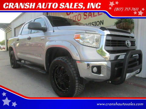 2015 Toyota Tundra for sale at CRANSH AUTO SALES, INC in Arlington TX
