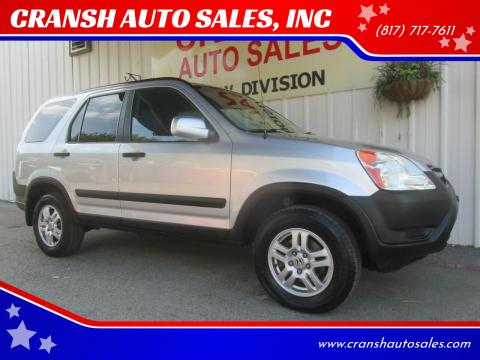2004 Honda CR-V for sale at CRANSH AUTO SALES, INC in Arlington TX