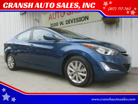 2014 Hyundai Elantra for sale at CRANSH AUTO SALES, INC in Arlington TX