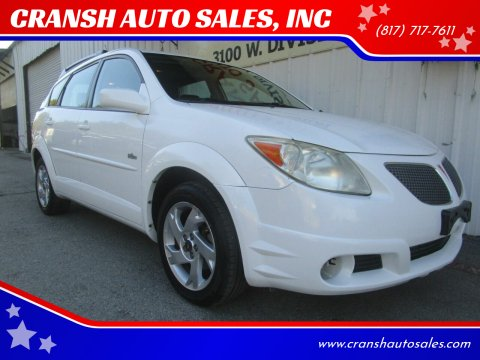 2005 Pontiac Vibe for sale at CRANSH AUTO SALES, INC in Arlington TX