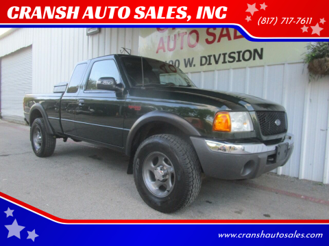 2001 Ford Ranger for sale at CRANSH AUTO SALES, INC in Arlington TX
