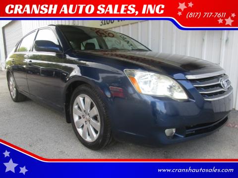 2007 Toyota Avalon for sale at CRANSH AUTO SALES, INC in Arlington TX