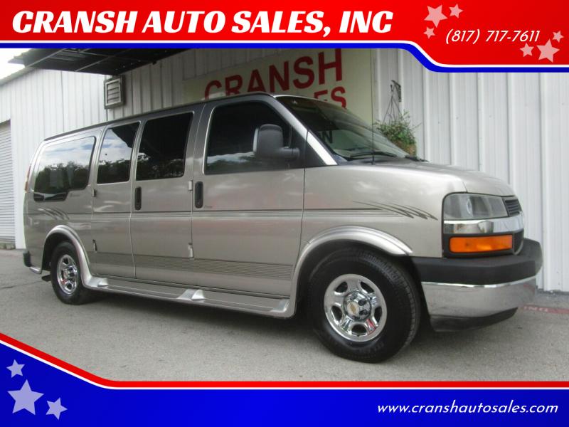 2003 Chevrolet Express Cargo for sale at CRANSH AUTO SALES, INC in Arlington TX
