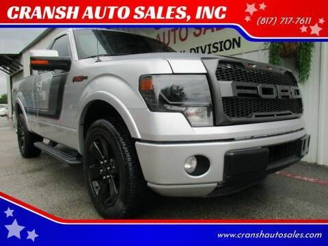 2014 Ford F-150 for sale at CRANSH AUTO SALES, INC in Arlington TX