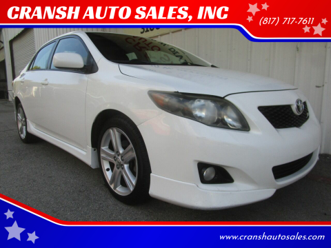 2009 Toyota Corolla for sale at CRANSH AUTO SALES, INC in Arlington TX
