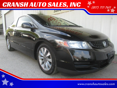 2010 Honda Civic for sale at CRANSH AUTO SALES, INC in Arlington TX
