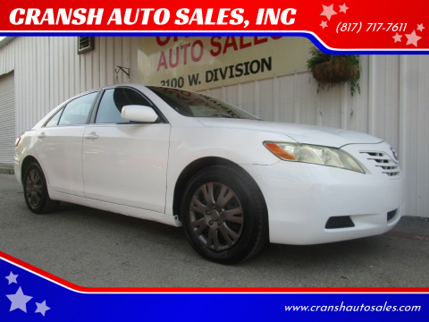 2009 Toyota Camry for sale at CRANSH AUTO SALES, INC in Arlington TX
