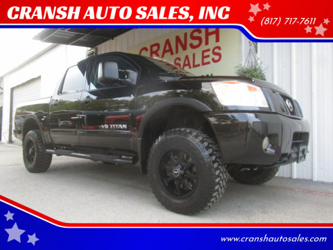 2012 Nissan Titan for sale at CRANSH AUTO SALES, INC in Arlington TX