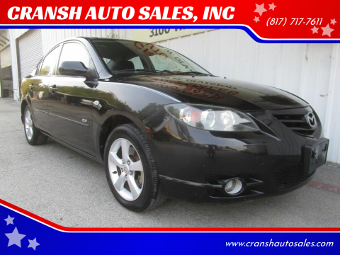 2006 Mazda MAZDA3 for sale at CRANSH AUTO SALES, INC in Arlington TX