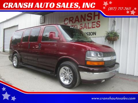 2007 Chevrolet Express Cargo for sale at CRANSH AUTO SALES, INC in Arlington TX