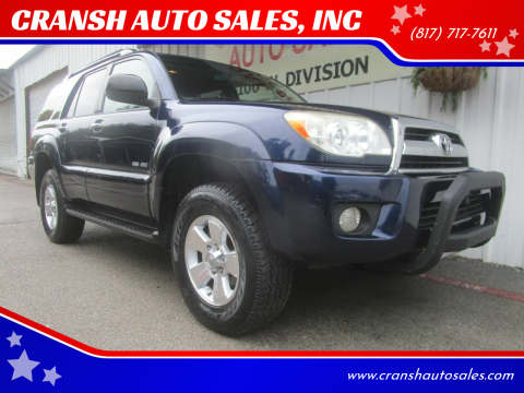 2006 Toyota 4Runner for sale at CRANSH AUTO SALES, INC in Arlington TX