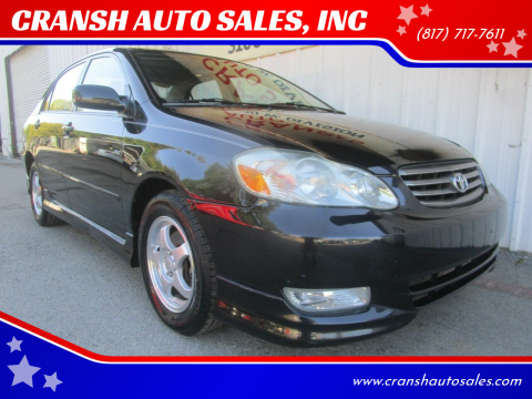 2003 Toyota Corolla for sale at CRANSH AUTO SALES, INC in Arlington TX