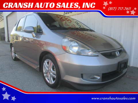 2007 Honda Fit for sale at CRANSH AUTO SALES, INC in Arlington TX