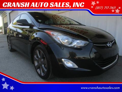2013 Hyundai Elantra for sale at CRANSH AUTO SALES, INC in Arlington TX