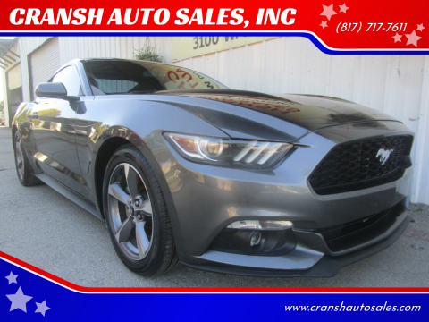 2016 Ford Mustang for sale at CRANSH AUTO SALES, INC in Arlington TX