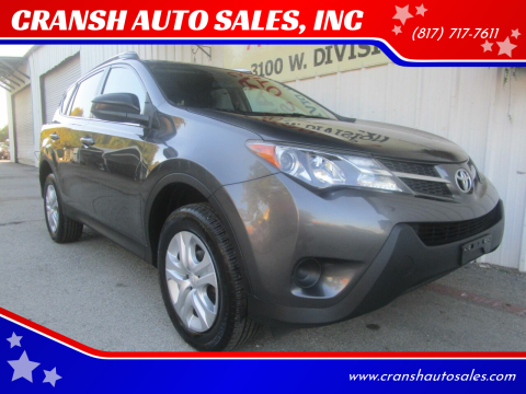 2013 Toyota RAV4 for sale at CRANSH AUTO SALES, INC in Arlington TX