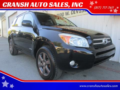 2008 Toyota RAV4 for sale at CRANSH AUTO SALES, INC in Arlington TX