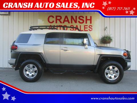 2010 Toyota FJ Cruiser for sale at CRANSH AUTO SALES, INC in Arlington TX