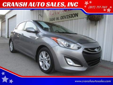 2013 Hyundai Elantra GT for sale at CRANSH AUTO SALES, INC in Arlington TX