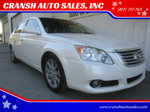 2010 Toyota Avalon for sale at CRANSH AUTO SALES, INC in Arlington TX