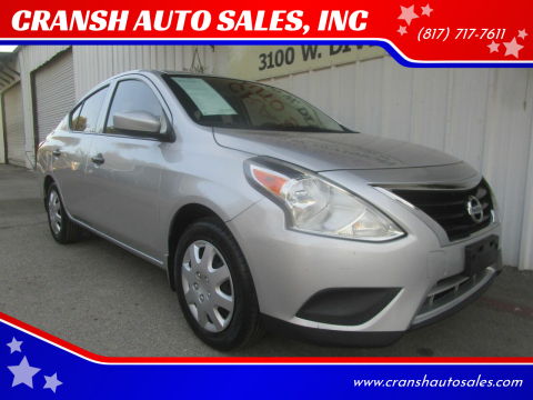 2016 Nissan Versa for sale at CRANSH AUTO SALES, INC in Arlington TX