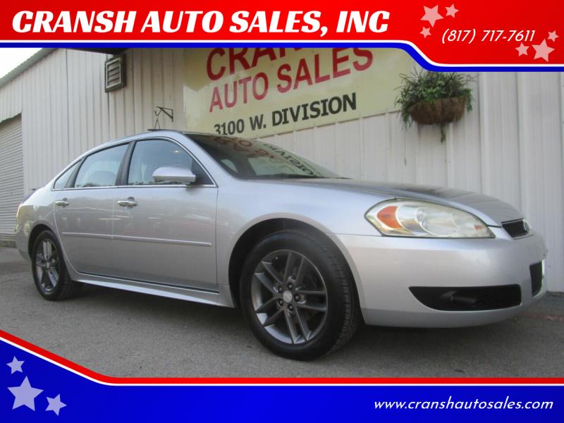 2012 Chevrolet Impala for sale at CRANSH AUTO SALES, INC in Arlington TX