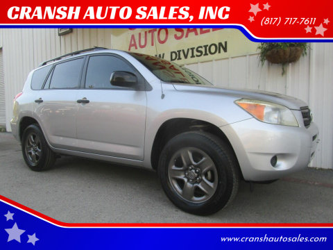 2007 Toyota RAV4 for sale at CRANSH AUTO SALES, INC in Arlington TX