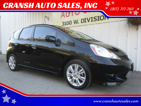 2011 Honda Fit for sale at CRANSH AUTO SALES, INC in Arlington TX