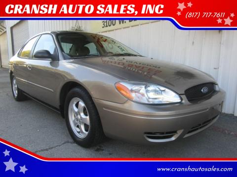 2006 Ford Taurus for sale at CRANSH AUTO SALES, INC in Arlington TX
