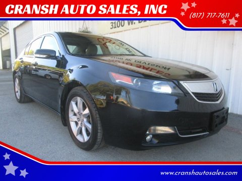 2013 Acura TL for sale at CRANSH AUTO SALES, INC in Arlington TX
