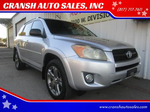 2010 Toyota RAV4 for sale at CRANSH AUTO SALES, INC in Arlington TX