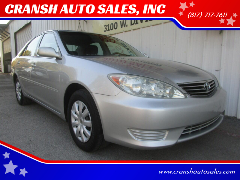 2005 Toyota Camry for sale at CRANSH AUTO SALES, INC in Arlington TX