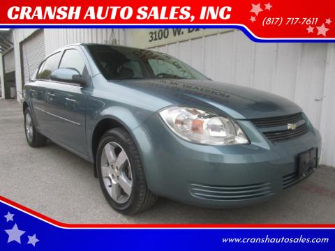 2010 Chevrolet Cobalt for sale at CRANSH AUTO SALES, INC in Arlington TX