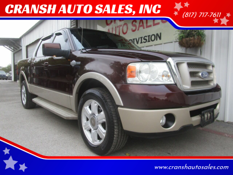 2008 Ford F-150 for sale at CRANSH AUTO SALES, INC in Arlington TX