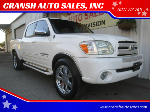 2006 Toyota Tundra for sale at CRANSH AUTO SALES, INC in Arlington TX