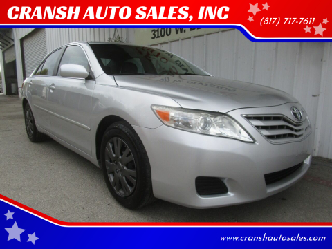 2011 Toyota Camry for sale at CRANSH AUTO SALES, INC in Arlington TX
