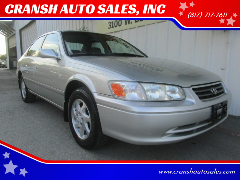 2001 Toyota Camry for sale at CRANSH AUTO SALES, INC in Arlington TX