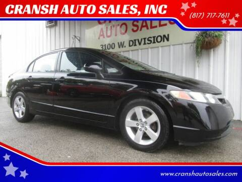 2008 Honda Civic for sale at CRANSH AUTO SALES, INC in Arlington TX