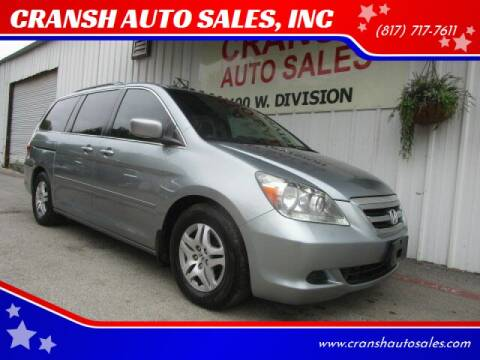 2005 Honda Odyssey for sale at CRANSH AUTO SALES, INC in Arlington TX
