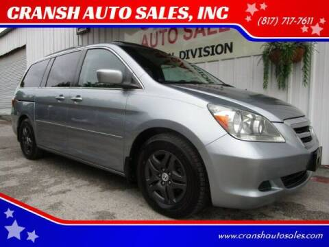2007 Honda Odyssey for sale at CRANSH AUTO SALES, INC in Arlington TX