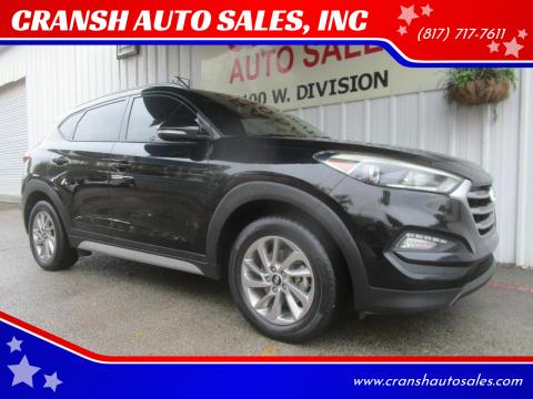 2017 Hyundai Tucson for sale at CRANSH AUTO SALES, INC in Arlington TX