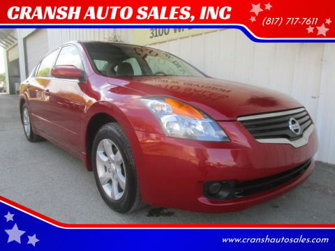 2009 Nissan Altima for sale at CRANSH AUTO SALES, INC in Arlington TX