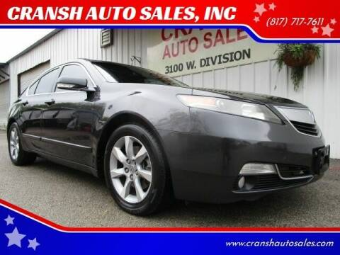 2012 Acura TL for sale at CRANSH AUTO SALES, INC in Arlington TX